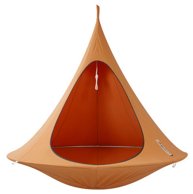 Foto Poltrona sospesa - sospesa - Doppia di Cacoon - Arancione - Tessuto