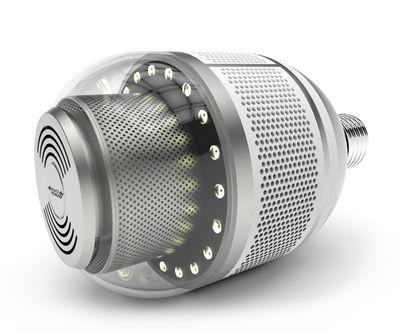 ampoule led e27 bw d tecteur de fum e connect int gr. Black Bedroom Furniture Sets. Home Design Ideas