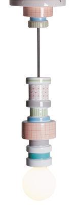 Luminaire - Suspensions - Suspension Moresque / Porcelaine - Seletti - Motifs Squared - Porcelaine, Tissu