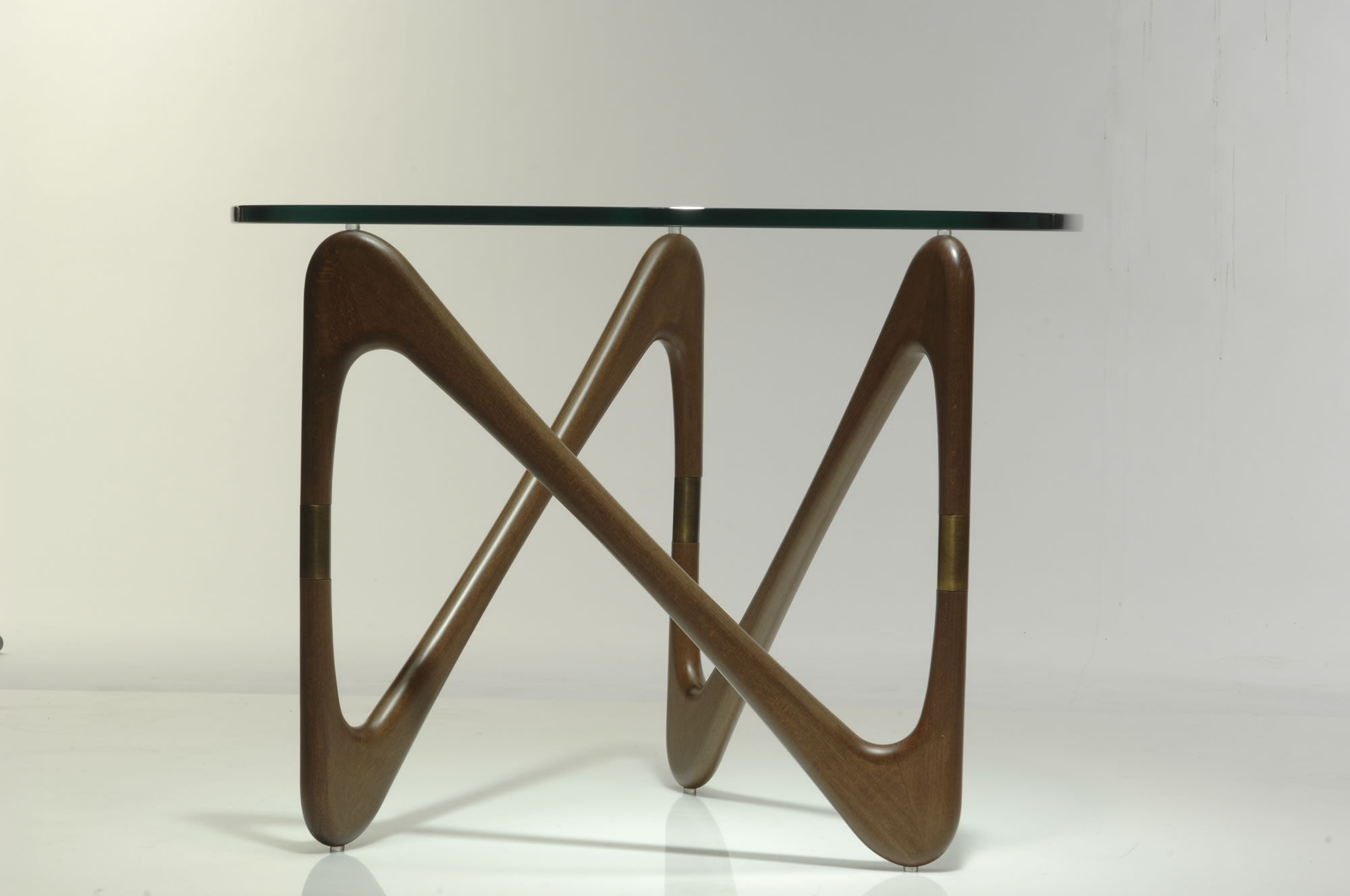 Moebius Coffee table Coffee table Structure walnut stained