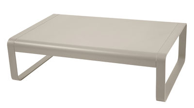 Furniture - Coffee Tables - Bellevie Coffee table - W 103 cm by Fermob - Nutmeg - Lacquered aluminium
