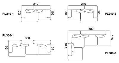 Scopri Divano destro Alphabet -componibile 2 posti - L 210 x P 120 ...