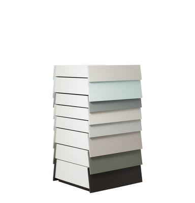 Commode Stack / 8 tiroirs - H 108 cm - Established & Sons gris en bois