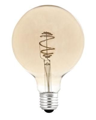 Luminaire - Ampoules et accessoires - Ampoule LED filaments E27 Ampoule SPIRAL / 6W = 60W - Pop Corn - Transparent / Doré - Verre