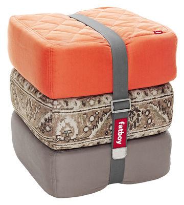 pouf baboesjka set 3 coussins de sol orange taupe persan taupe fatboy. Black Bedroom Furniture Sets. Home Design Ideas