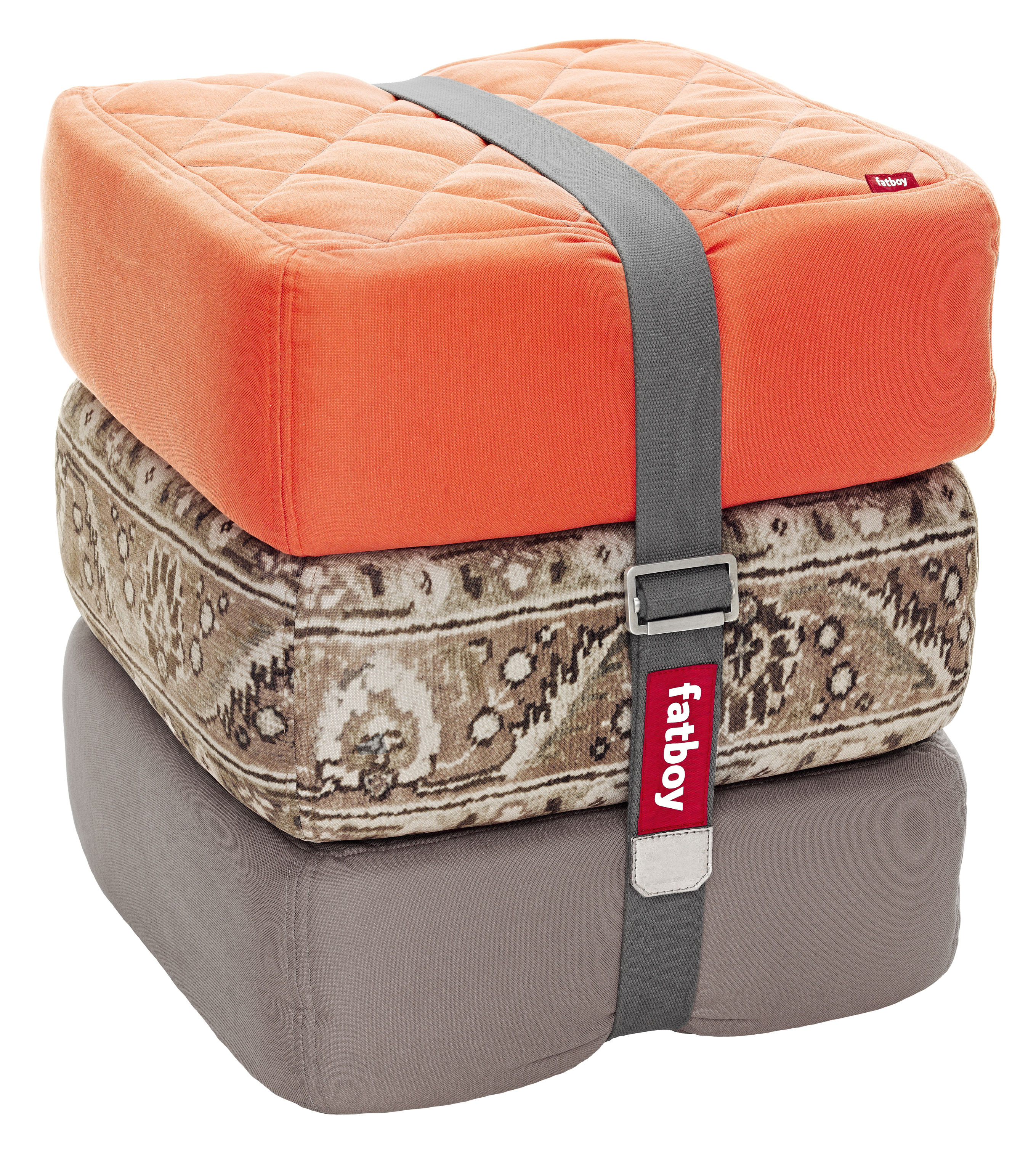 pouf baboesjka set 3 coussins de sol orange taupe persan taupe fatboy. Black Bedroom Furniture Sets. Home Design Ideas
