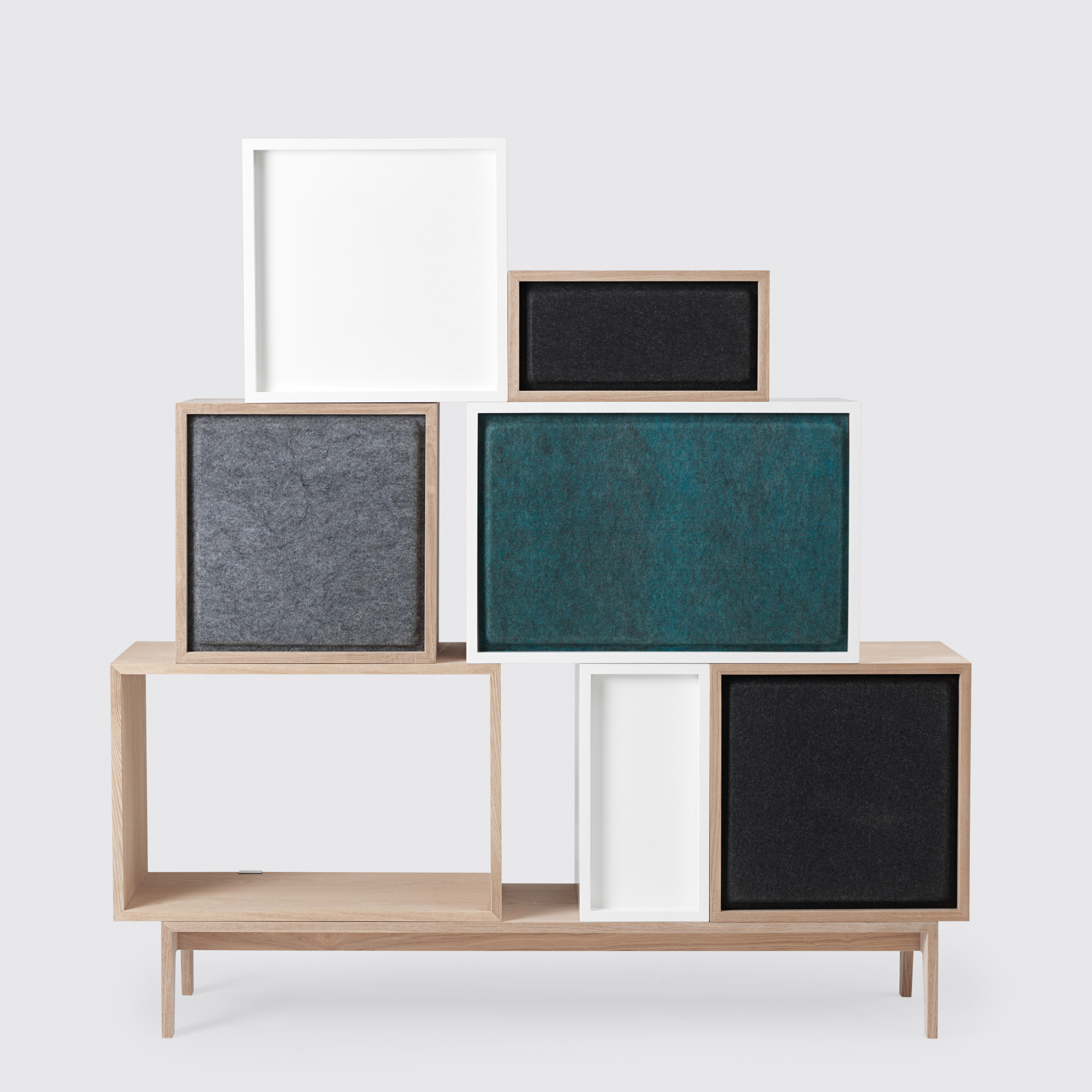 acoustics board for large stacked shelf 65x43 cm grey by muuto. Black Bedroom Furniture Sets. Home Design Ideas