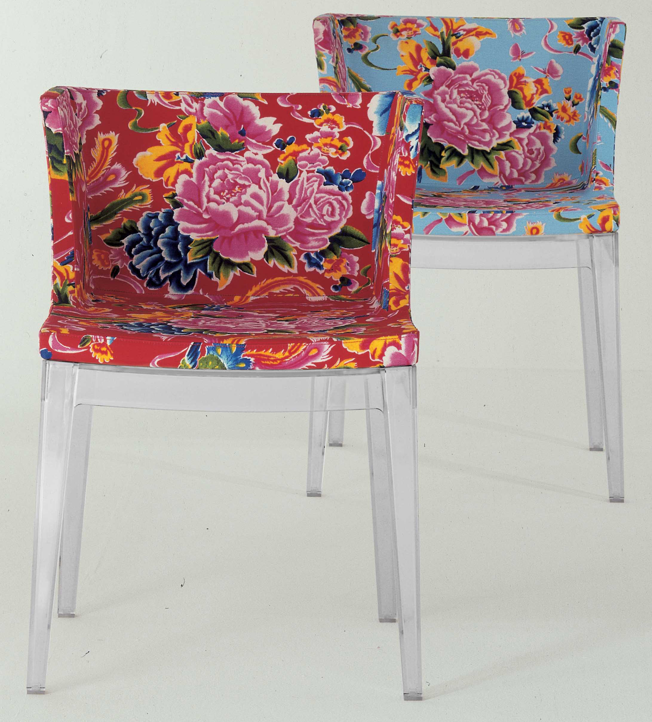 Mademoiselle floreale padded armchair blue flowers by kartell for Acheter chaise design