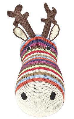 Peluche Tête de renne Trophée en crochet Anne Claire Petit multicolore,marron en tissu