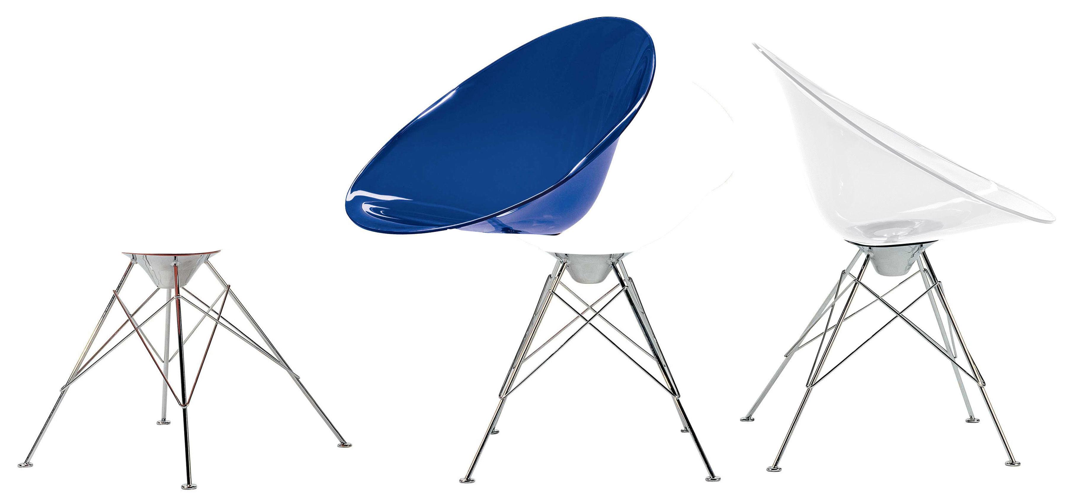 fauteuil ero s en polycarbonate orange transparent kartell. Black Bedroom Furniture Sets. Home Design Ideas