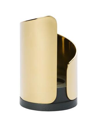 Bougeoir Flame - Northern noir,or en métal