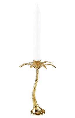 Bougeoir Palmier Large / H 21 cm - & klevering laiton en métal