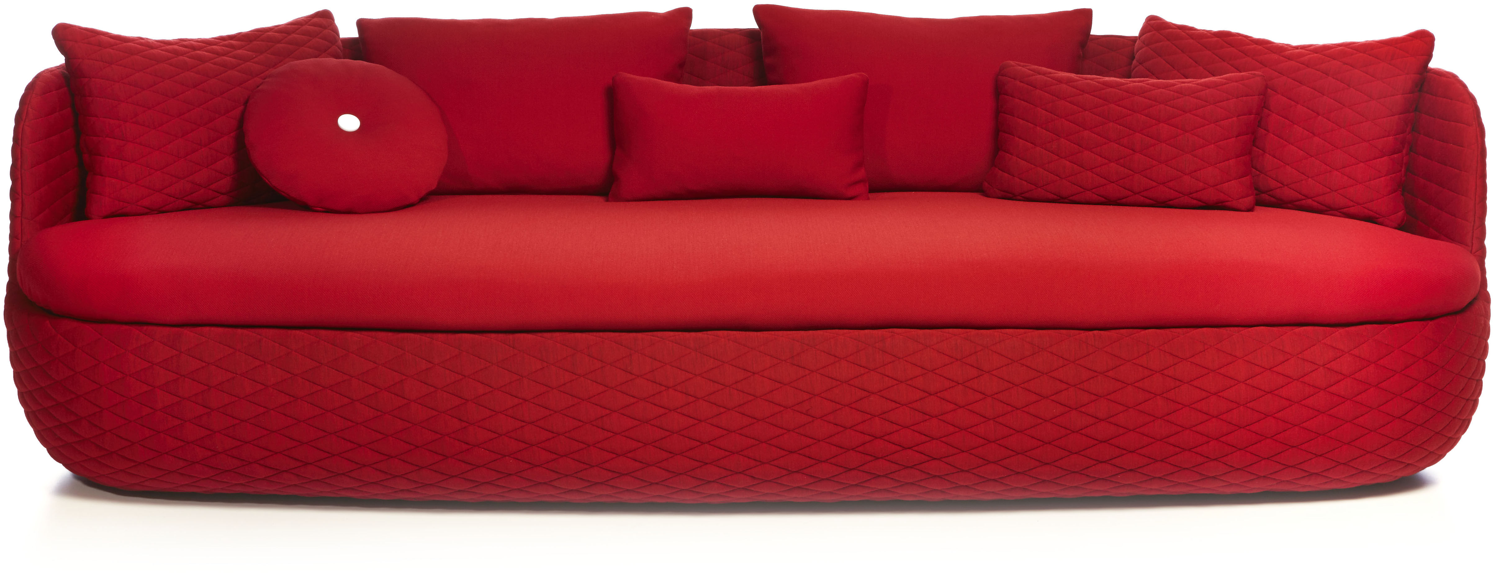 Bart straight sofa passion red by moooi for Sofa 70 cm deep