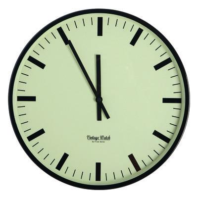 Horloge murale Station / Ø 38 cm - House Doctor noir,olive en métal