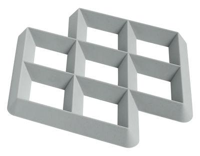 Dessous de plat Rhom / Silicone - Hay gris clair en matière plastique