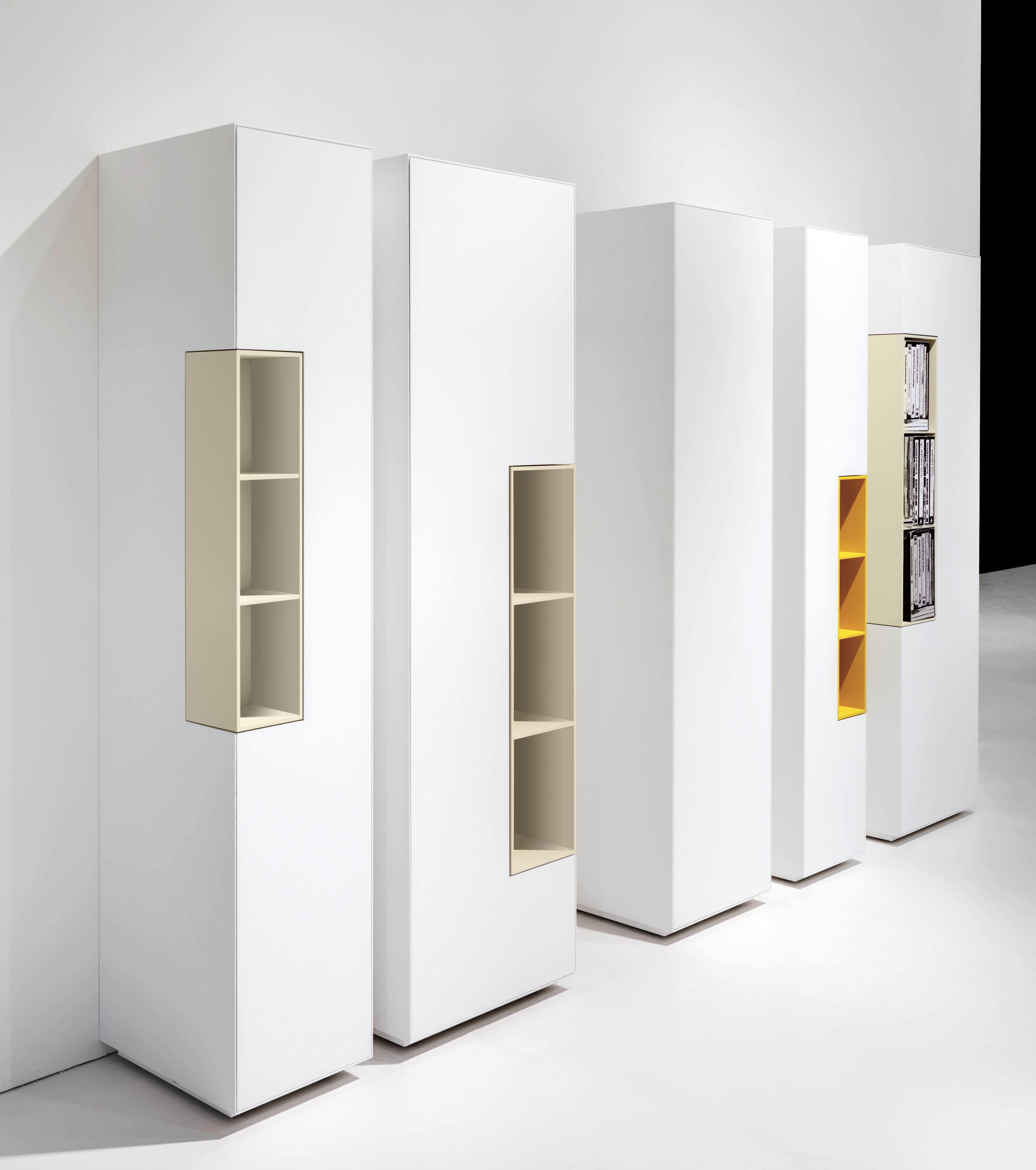 rangement inmotion colonne 3 tag res h 188 x l 45 cm h 188 x l 45 cm blanc mat mdf italia. Black Bedroom Furniture Sets. Home Design Ideas