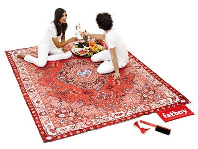 tapis d ext 233 rieur picnic lounge 280 x 210 cm tons rouges fatboy