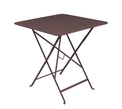 Table pliante Bistro 71 x 71 cm Trou pour parasol Fermob rouille en métal