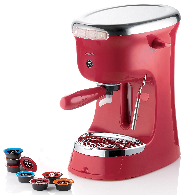 cafeti re expresso g plus pour dosettes rouge guzzini. Black Bedroom Furniture Sets. Home Design Ideas