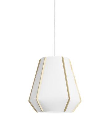 Luminaire - Suspensions - Suspension Lullaby P1 / Ø 24 x H 22 cm - Lightyears - Blanc / Frêne - Frêne, Papier de pierre