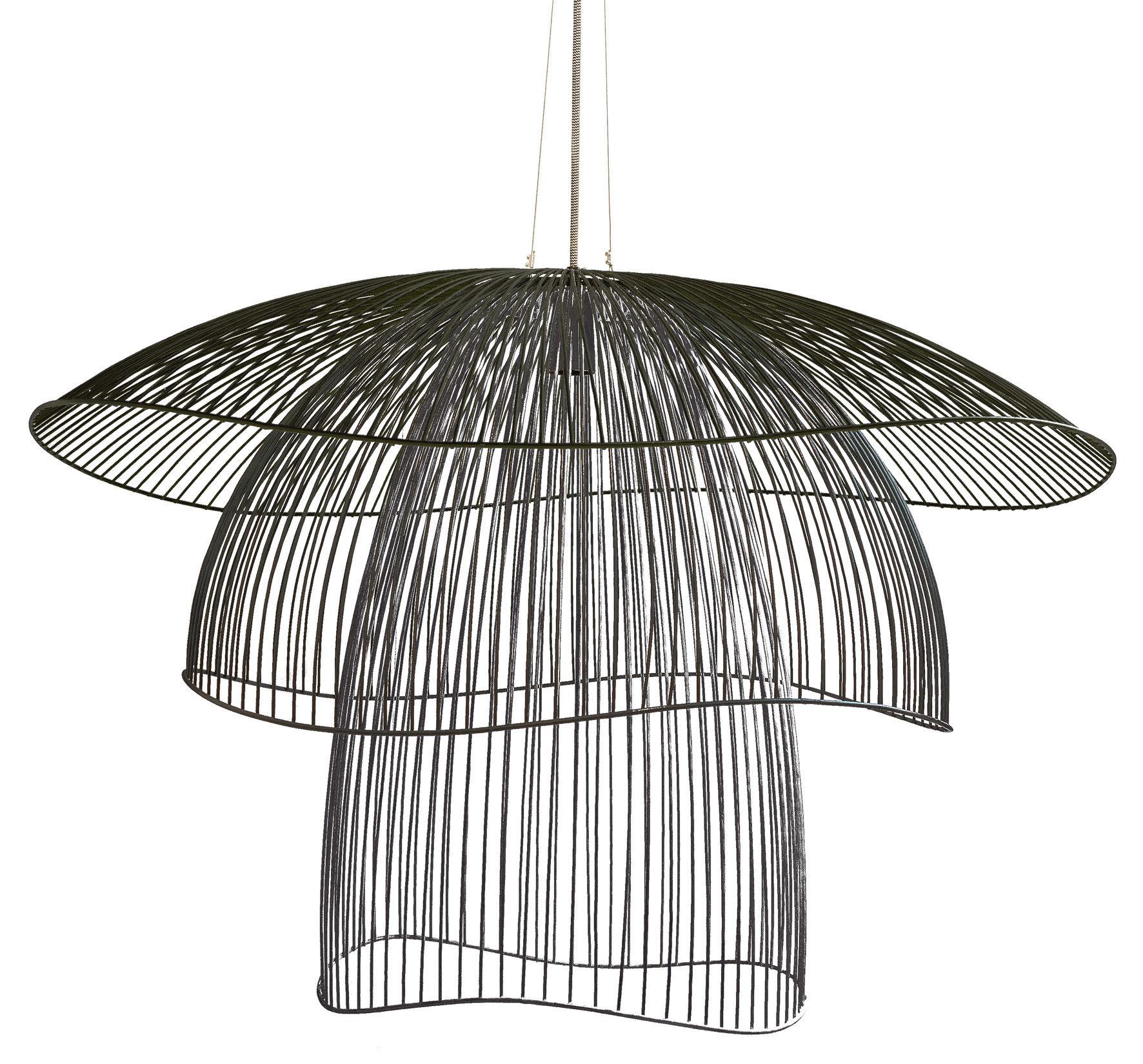 suspension papillon large 100 cm noir forestier made in design. Black Bedroom Furniture Sets. Home Design Ideas