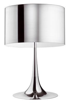 Illuminazione - Lampade da tavolo - Lampada da tavolo Spun Light T2 - H 68 cm di Flos - Alluminio lucidato - Alluminio lucido