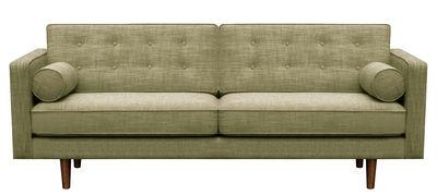 Divano destro N101 L / 3 posti - L 203 cm - Universo Positivo - Verde oliva - Tessuto