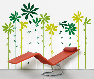 Déco - Stickers, papiers peints & posters - Sticker Tournesol Green - Domestic - Tons verts - Vinyle