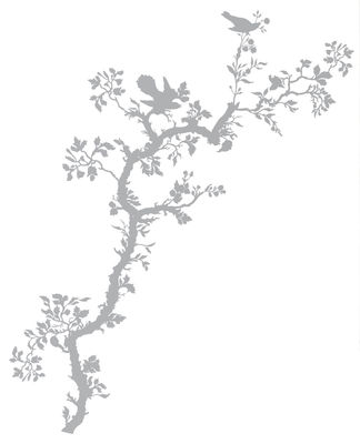 Image of Bird Branch Sticker - Domestic - Grau