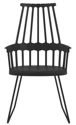 fauteuil comback polycarbonate pied luge m tal noir kartell. Black Bedroom Furniture Sets. Home Design Ideas