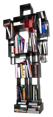 Bibliothèque Robox L 78 cm x H 184 cm - Casamania rouge,noir en métal