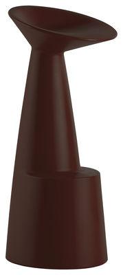 Foto Sgabello bar Voilà - / H 80 cm di Slide - Cioccolato - Materiale plastico