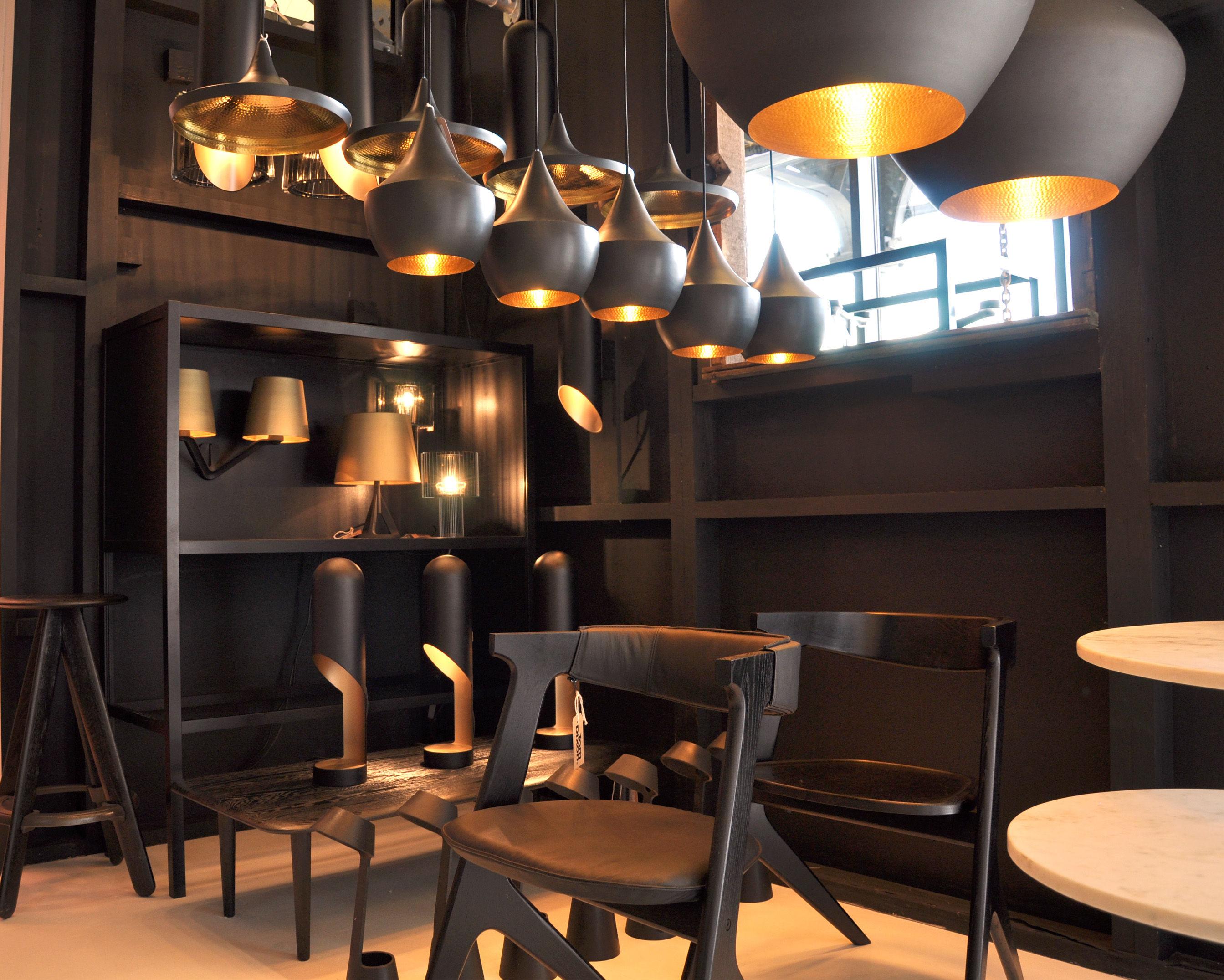 Base wall light matt gold black by tom dixon mozeypictures Gallery