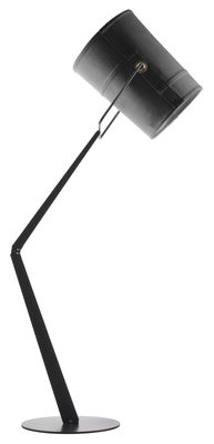 Lighting - Floor lamps - Fork Floor lamp by Diesel with Foscarini - Grey / Brown base - Anodized metal, Fabric