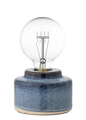 Lampe de table / Porcelaine - Ø 12 x H 9 cm - Bloomingville bleu en céramique