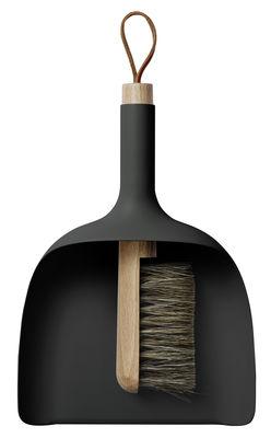 Set pelle & balayette Sweeper and Funnel - Menu noir en matière plastique