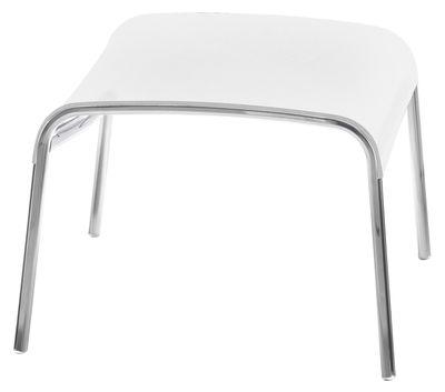 Mobilier - Poufs - Pouf Paso Doble / Toile - Magis - Blanc / structure blanche - Aluminium verni, Toile