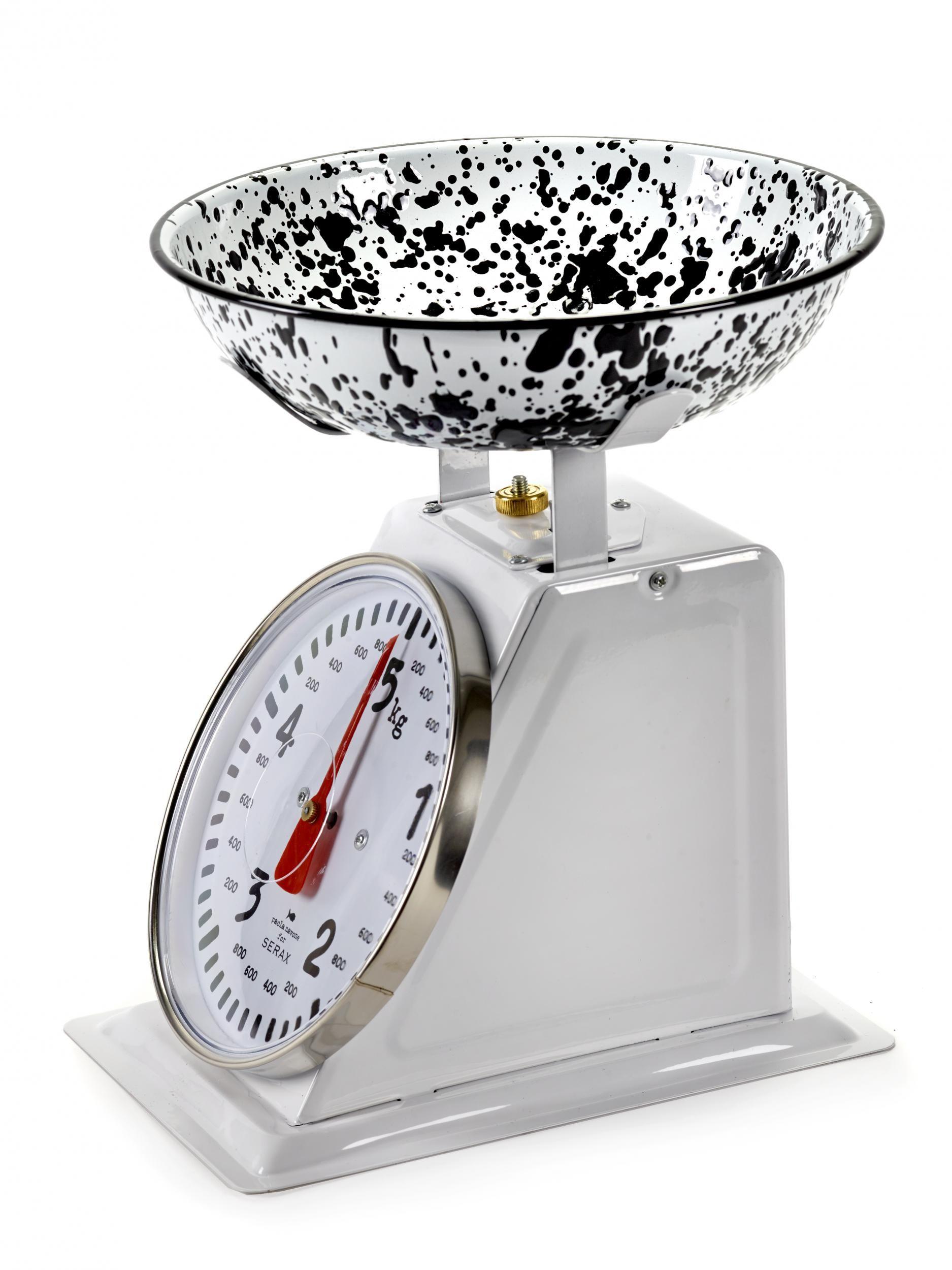 Pasta Pasta Mechanical kitchen scales - / 5 Kg Black & white by Serax