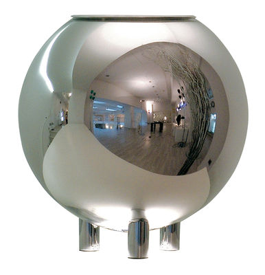 Luminaire - Lampes de table - Lampe de table Globo di Luce - Fontana Arte - Verre métallisé - Métal chromé, Verre