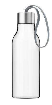 Arts de la table - Carafes et décanteurs - Gourde Large 0,7 L - Bouteille nomade plastique écologique - Eva Solo - Cordon gris / Transparent - Plastique écologique