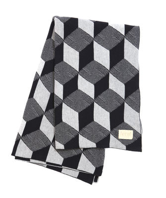Valentine's day - For Him - Squares Plaid by Ferm Living - Squares - Black & Silver - Cotton