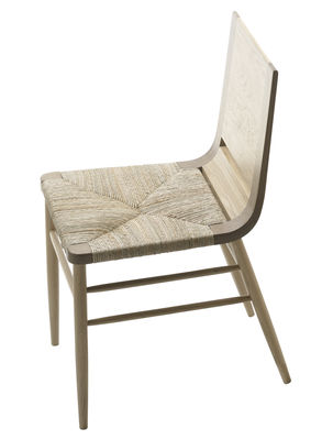 Furniture - Chairs - Kimua Chair - Wicker seat by Alki - Natural oak - Solid oak