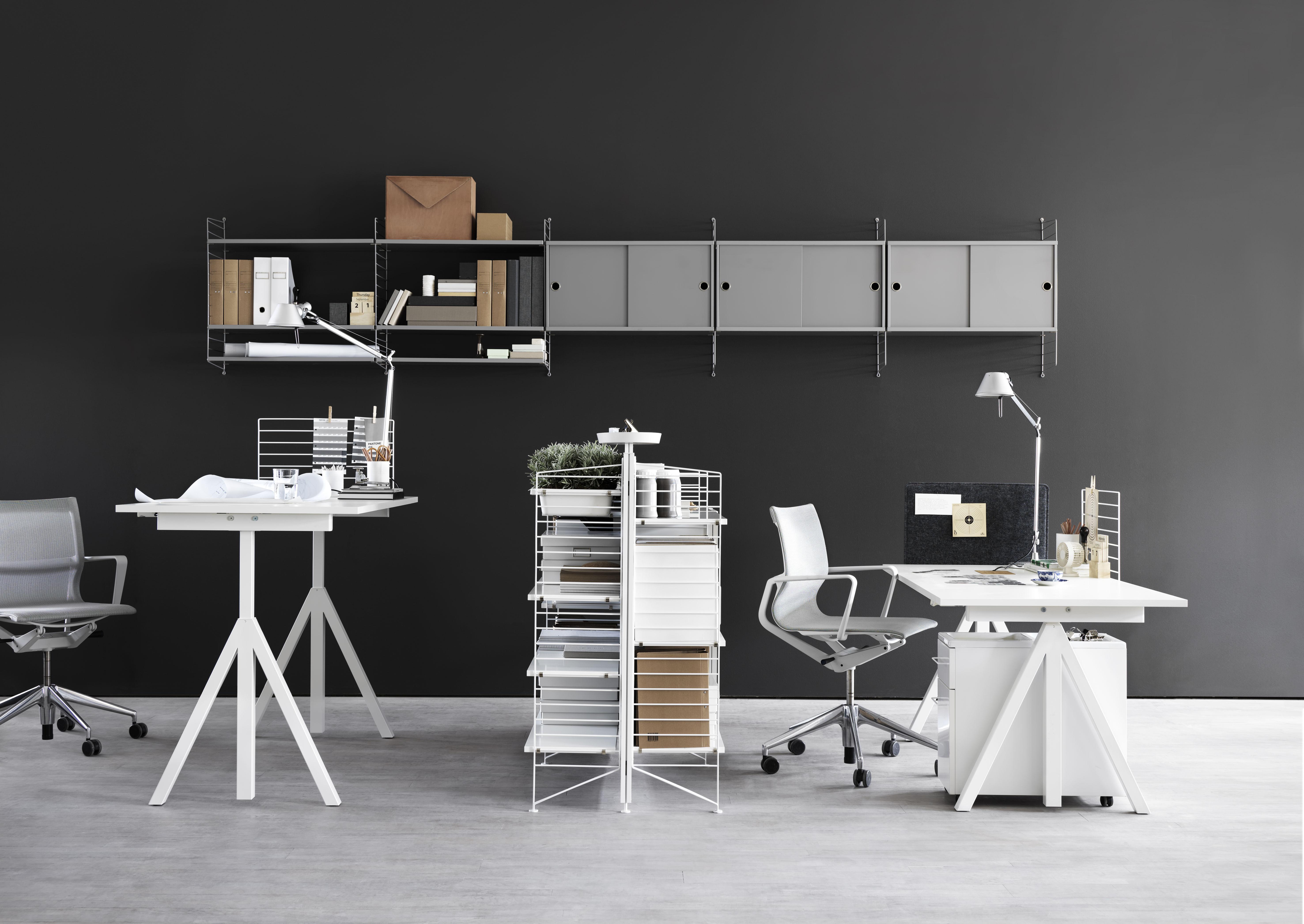 vide poche string works pour meuble de rangement blanc. Black Bedroom Furniture Sets. Home Design Ideas