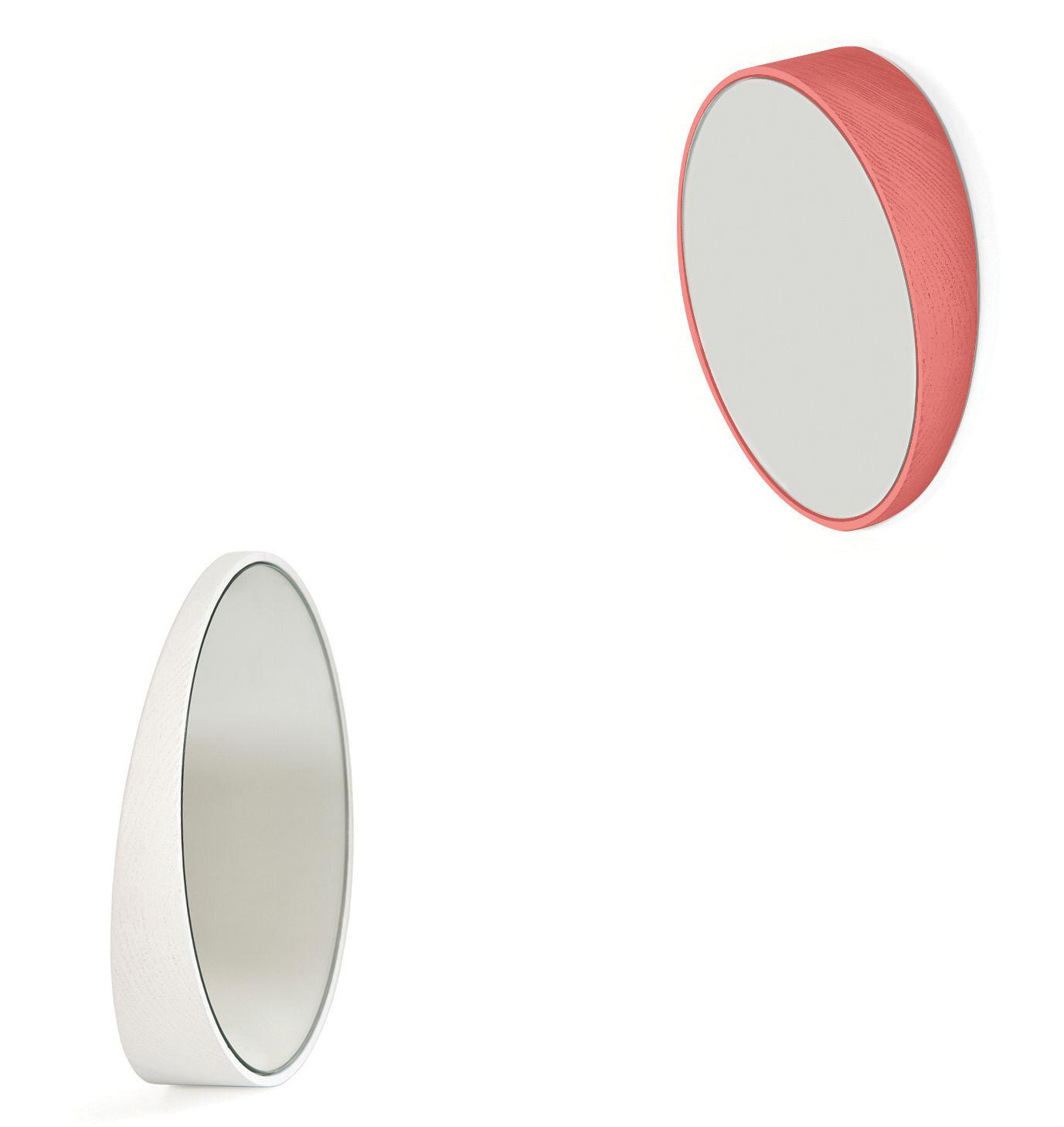 odilon small spiegel 25 cm korallrot by hart made in design. Black Bedroom Furniture Sets. Home Design Ideas