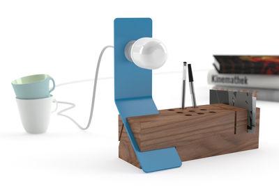 Bleu bureau bois organisateur de bureau accessoires de etsy