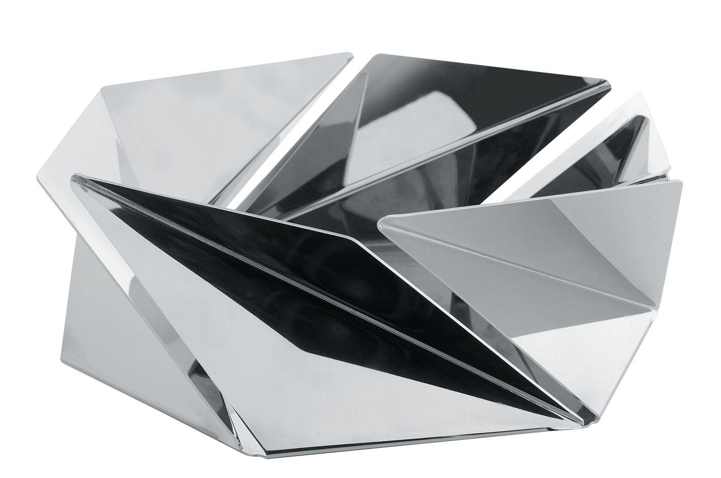 corbeille kaleidos acier poli miroir alessi. Black Bedroom Furniture Sets. Home Design Ideas