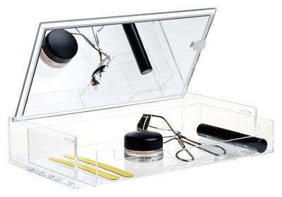Accessoires - Accessoires salle de bains - Boîte à maquillage Clear / Avec miroir - Nomess - Transparent - Acrylique