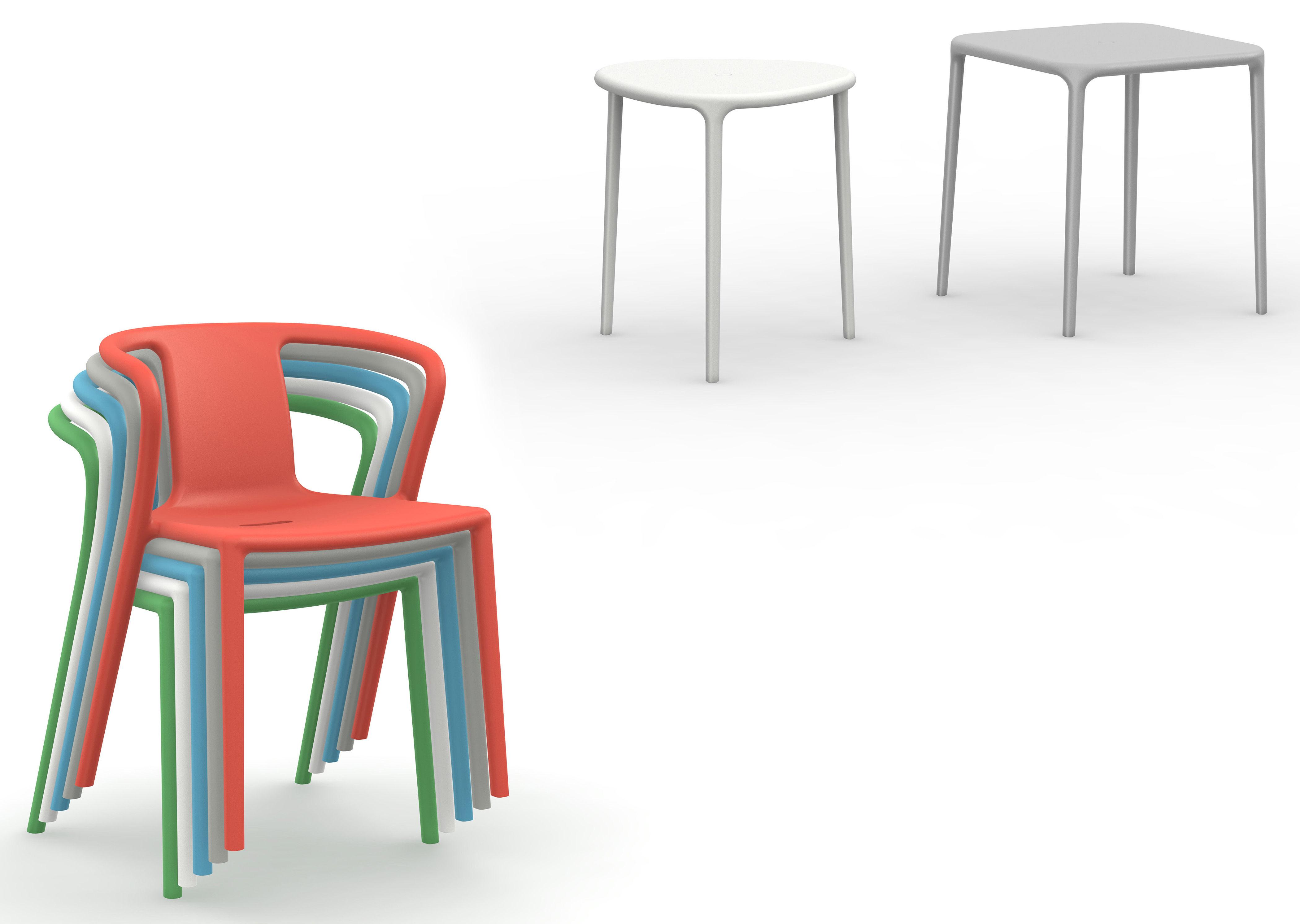 Air armchair stackable armchair polypropylene beige by magis for Magis air armchair