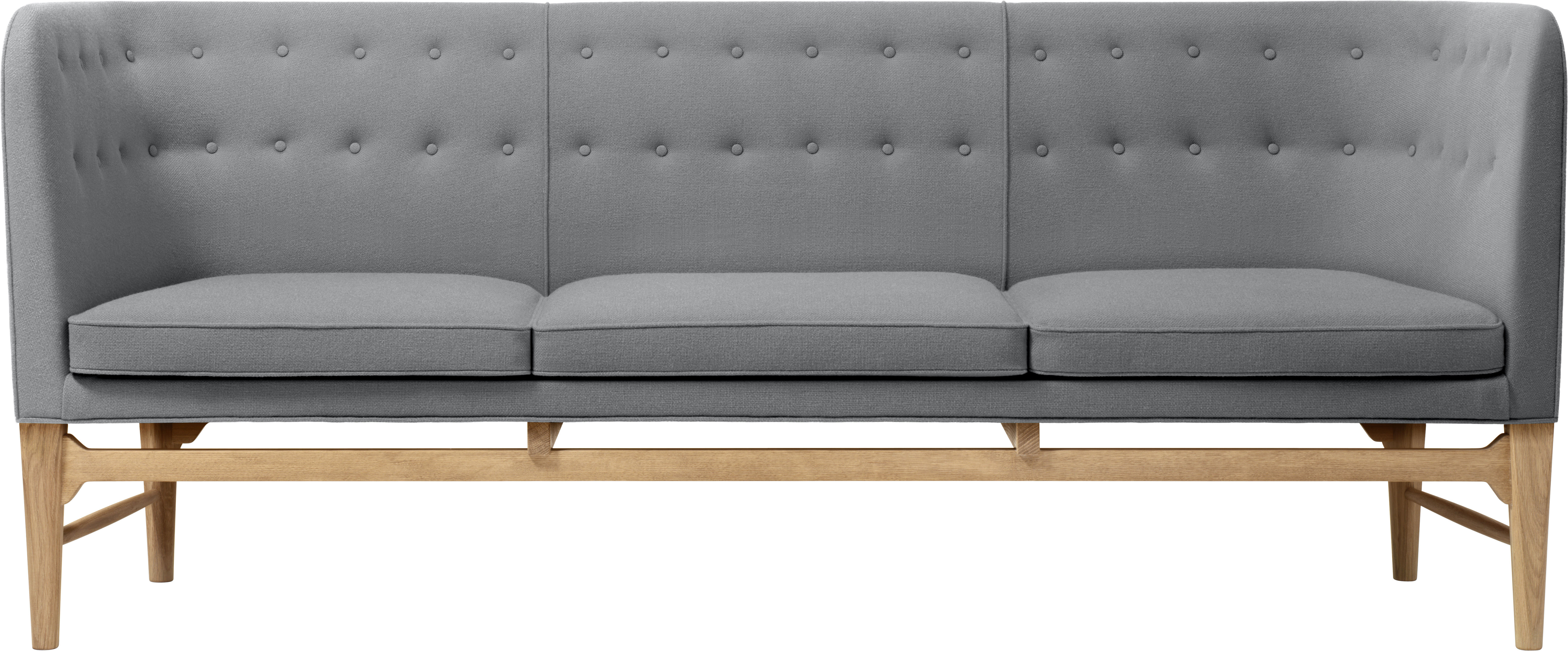 mayor sofa straight sofa 3 seats arne jacobsen 1939 grey by tradition. Black Bedroom Furniture Sets. Home Design Ideas