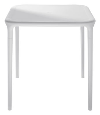 Jardin - Tables de jardin - Table de jardin Air-Table / 65 x 65 cm - Magis - Blanc 65 x 65 cm - Polypropylène